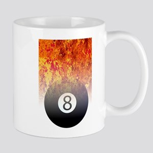 Roaring Flaming 8 Ball Mugs