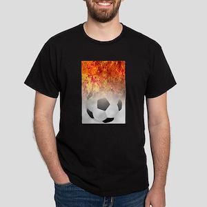 Roaring Flaming Soccer Ball T-Shirt