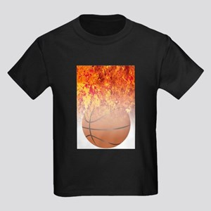Roaring Flaming Basketball T-Shirt