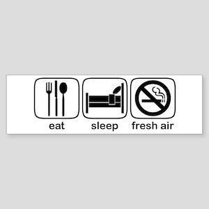 Eat Sleep Fresh Air Bumper Sticker