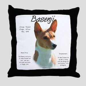 Basenji (chestnut) Throw Pillow