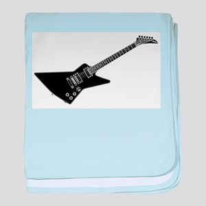 Black And White Guitar baby blanket