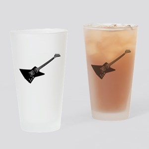 Black And White Guitar Drinking Glass