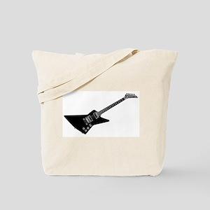 Black And White Guitar Tote Bag