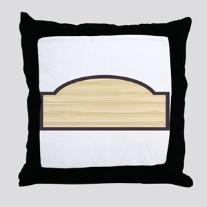 Blank Wooden Store Sign Throw Pillow