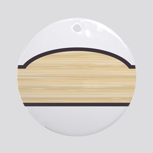 Blank Wooden Store Sign Round Ornament