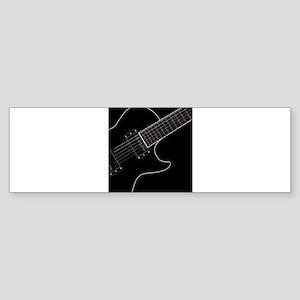 Electric Guitar Close Up Bumper Sticker