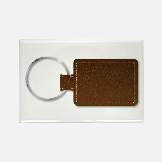 Leather Key Fob Magnets