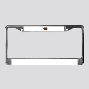 Leather Key Fob License Plate Frame