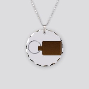 Leather Key Fob Necklace Circle Charm