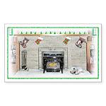 Keeshond - Christmas Rectangle Sticker