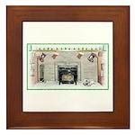Keeshond - Christmas Framed Tile