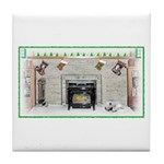Keeshond - Christmas Tile Coaster