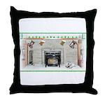 Keeshond - Christmas Throw Pillow