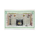 Keeshond - Christmas Rectangle Magnet (10 pack)