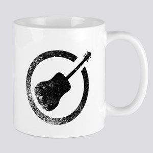Acoustic Guitar Ink Stamp Mugs