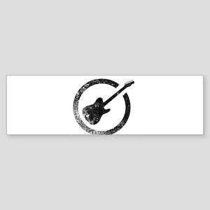 Electric Guitar Ink Stamp Bumper Sticker