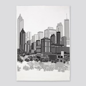Atlanta, Georgia Art 5'x7'Area Rug