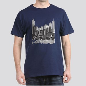 Atlanta, Georgia Art Dark T-Shirt