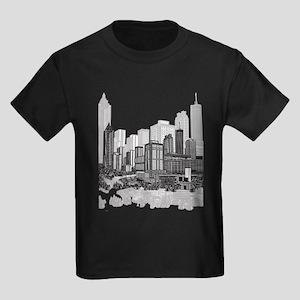 Atlanta, Georgia Art Kids Dark T-Shirt