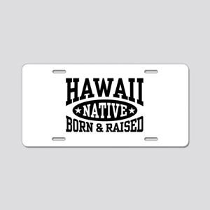 Hawaii Native Aluminum License Plate