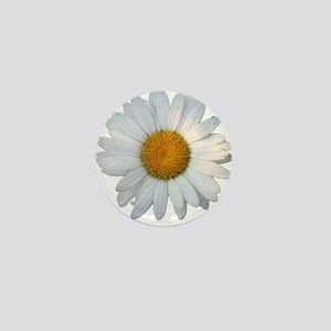 White daisy Mini Button
