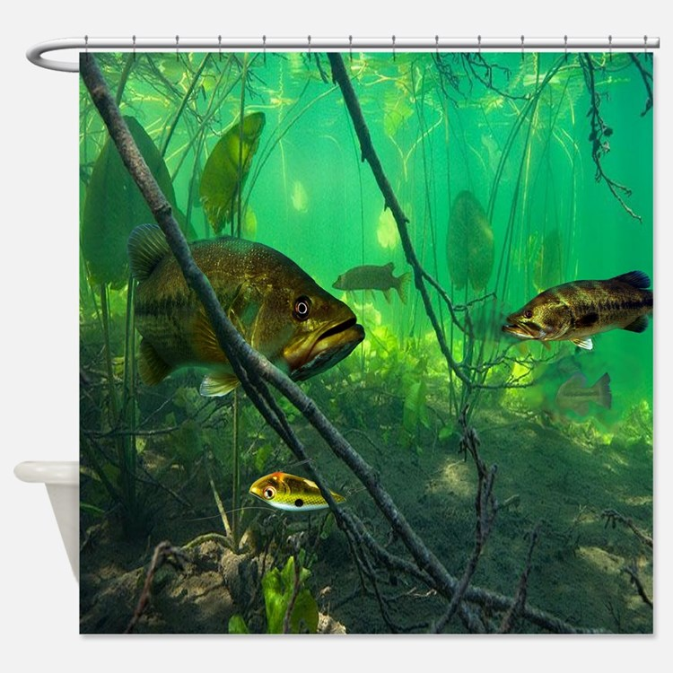 fish shower curtain bass shower curtains bass fabric shower curtain liner 28792