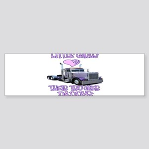 Little Girls Love Their Trucker Daddys Sticker (Bu