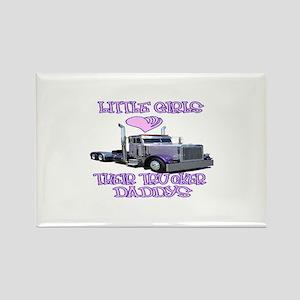 Little Girls Love Their Trucker Daddys Rectangle M