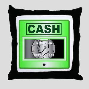 Emergency Half Dollar Throw Pillow