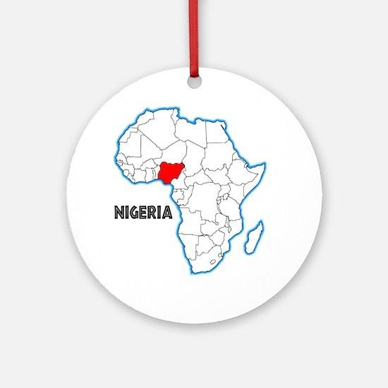 Nigeria Round Ornament