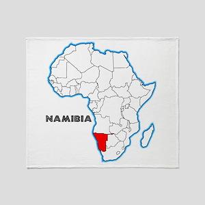 Namibia Throw Blanket