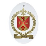 LANDRY Family Crest Oval Ornament