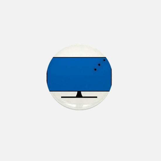 Computer Screen Bullet Holes Mini Button
