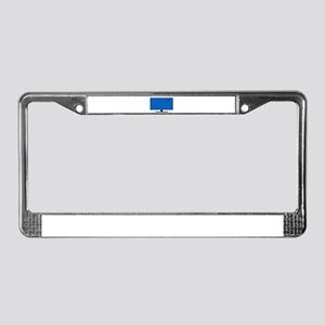 Computer Screen Bullet Holes License Plate Frame