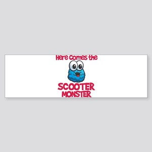 Scooter Monster Bumper Sticker