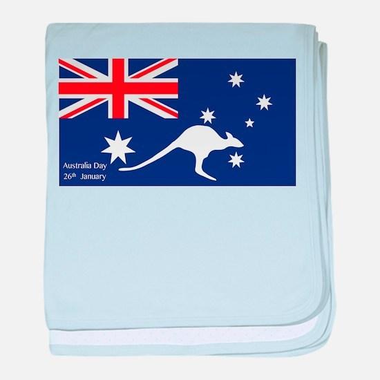 Australia Day Kangaroo baby blanket