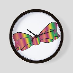 Jazz Satin Bow Wall Clock