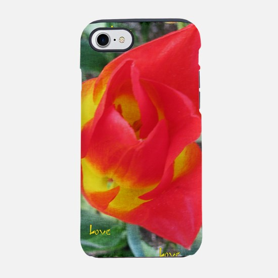 Flaming Tulip In A Sea Of Lo iPhone 8/7 Tough Case