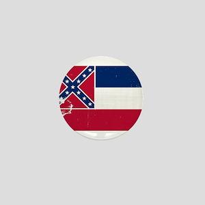 Mississippi Grunge Flag Mini Button