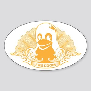 tux dollar Oval Sticker
