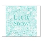 Let it Snow (robin blue) Small Poster