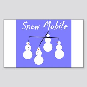 Snow Mobile Rectangle Sticker