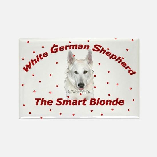 White German Shepherd - Smart Rectangle Magnet