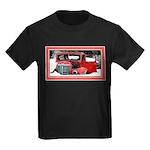 Keeshond - Old Car Christmas Kids Dark T-Shirt