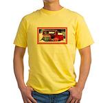 Keeshond - Old Car Christmas Yellow T-Shirt