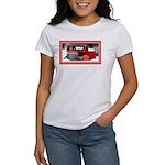 Keeshond - Old Car Christmas Women's T-Shirt