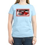 Keeshond - Old Car Christmas Women's Light T-Shirt