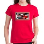 Keeshond - Old Car Christmas Women's Dark T-Shirt