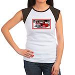Keeshond - Old Car Christmas Women's Cap Sleeve T-